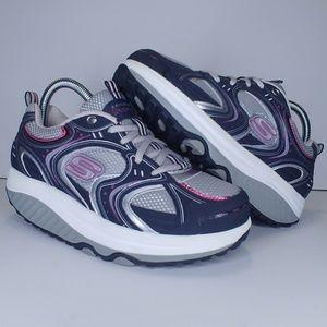 Sketchers Shape-Ups blue/gray/pink shoes